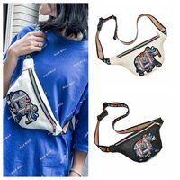 Wholesale leather elephant bag - Embroidery Elephant Fanny Packs Waist Bags Women PU Leather Mini Waist Pack Messenger Coin Bag OOA5404