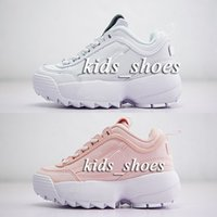 Wholesale baby closes - Kids Disruptors Shoes New Discount baby children boys girls Disruptores 2 Large awtooth Thick bottom White Pink fashion Casual Shoes 28-35