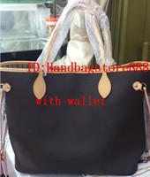 Wholesale clutch wallet lady purse handbag online - 2019 new fashion women handbags ladies designer composite bags lady clutch bag shoulder tote female purse wallet big size