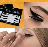 Wholesale eyes sticker tape - Eyeliner Sticker Makeup Tool Eyes Sticker Cat Style Sexy Temporary Double Eyeshadow Eyelid Tape Black Eyeliner Tape