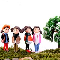 Micro Landscape Decoration 1*4CM Cute Girl Cartoon Miniatures Mini Fairy Garden Pots Figurines Photography Props Living Room Decor DIY Gift