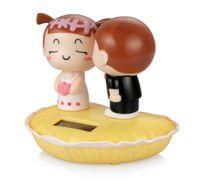 Wholesale dashboard accessories online - Car Ornaments Kiss Child Couple Dolls Automobile Dashboard Decoration Ornament Toys Auto Interior Cute Solar Decor Accessories