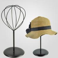 ingrosso deposito del cappello-Calda vendita cappello rack di stoccaggio in metallo tappo di punta display stand cappello di paglia sunhat shelf holder parrucca rack per boutique display puntelli