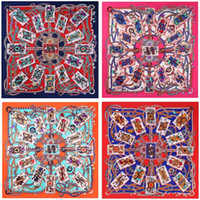 Wholesale bandana kerchief for sale - Square Silk Women Bandana Colorful Luxury Brand Designer Kerchief Popular Trend Oversize Scarf Many Colors Printing New bc ZZ