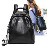 Wholesale branded ladies travel bag for sale - Group buy Leather Backpack Travel Softback Bag Women Bags Ladies Zippe Backpack Brand Girls School Bag High Quality G148L