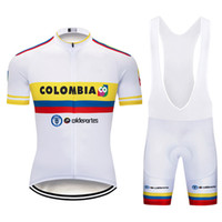 2019 COLOMBIA NATIONAL TEAM WHITE 03 SHORT SLEEVE CYCLING JERSEY SUMMER CYCLING WEAR ROPA CICLISMO+ BIB SHORTS 3D GEL PAD SET SIZE:XS-4XL