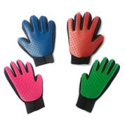 гребень для перчаток оптовых-Силиконовая перчатка Pet Deshedding Нежная Эффективная Расческа для Собак