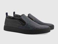 hommes mocassins gris achat en gros de-Hommes Femmes Dames Casual Chaussures 2018 Nouvelle Mode Noir Gris Baskets / Mocassins Low Cut En Plein Air Hommes Femmes Designer Sneaker 36-46