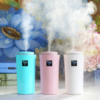 Wholesale mist diffusers resale online - 230ML Mini USB Humidifier Diffuser Ultrasonic Cool Mist Fresh Air Spa Aromatherapy Home Office Car Diffusers Purifier Humidifiers