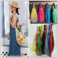 Wholesale turtle arts online - Mesh Net Shopping Bags Fruits Vegetable Portable Foldable Cotton String Reusable Turtle Bags Tote for Kitchen Sundries CCA9849