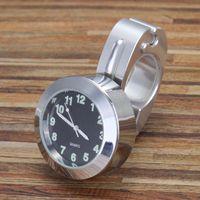 relógios de alumínio venda por atacado-Universal À Prova D 'Água 7/8 Guiador Da Bicicleta Da Motocicleta Montar Relógio Relógio de Liga de Alumínio Durável Relógio Bloqueado Para O Guiador