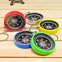 Wholesale mini compass keychain - High accuracy Stability American compass keychain compass Mini compass pocket outdoor gadgets gear for hiking camping