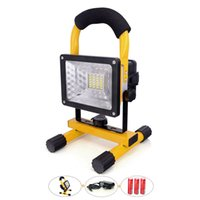 Wholesale cordless light bulbs - LED Outdoor Lighting 30W with Rechargeable Battery 2400Lm Cordless Portable Lamp Yellow led Light for Camping Fishing