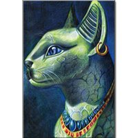 image de tissu achat en gros de-vente en gros image de chat égyptien de la peinture au diamant à la bête