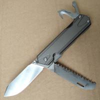 стопорные ножи оптовых-Sanrenmu 7117LUX-LK нож из нержавеющей стали SRM карманный EDC нож выживания открытый Liner Lock многофункциональный инструмент пила