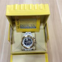 Wholesale white rubber swiss watch - New Swiss Business Quartz INVICTA Stainless Steel watch Men sport Military DZ Watches Silicone Strap army wristwatch clock