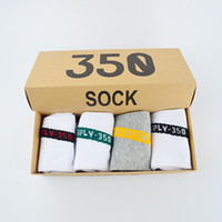 Wholesale racing gifts - Boost V2 350 Socks SPLY-350 With 350 Box Kanye West Sply V2 350 Running Sock Yellow Grey Red Black Free Size Mens Womens Gifts Box