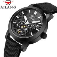 ea32ba72f32 AILANG 2017 Esporte Casual Série À Prova D  Água Automático Relógio de Pulso  Dos Homens Top Marca de Luxo Esqueleto Mecânico Transparente Relógios