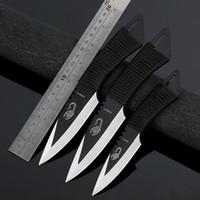 cuchillo fijo de acero inoxidable al por mayor-CYHWD13 Cuchillo de hoja fija de alta dureza Juegos de cuchillos de buceo de acero inoxidable con funda de nylon Cuchillo de uso general para exteriores