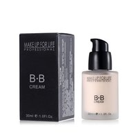 Wholesale Coloured Lamp - Professional BB Cream Natural Perfect Cover Makeup Concealer Moisturizing Cosmetics Foundation Make Up 2 Colours 30G