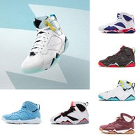 Wholesale online french - 2018 new shoes 7s French Blue basketball shoes Raptor Hares Olympic Bordeaux sport sneaker shoes,For online hot size 8-13