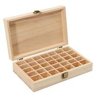 Wholesale Jewelry Treasure Box - Wooden Storage Box 1pc Carry Organizer Storage Box Essential Oil Bottles Aromatherapy Container Metal Lock Jewelry Treasure Case