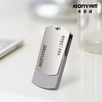 laser usb venda por atacado-Gravação a laser seu logotipo do negócio Real capacidade Usb Memory Stick de Metal Pendrive USB Flash Drive Rotativa Usb Memory Stick Para Monvam V80