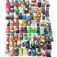 lápis de promoção venda por atacado-Promoção Ooshies DC Comics / Marvel Ooshie Toppers Lápis Figura de Ação Toy Kids Presente Da Boneca de Presente de Natal Decoração Do Partido