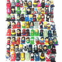 Wholesale marvel comics toys for sale - Promotion Ooshies DC Comics Marvel Ooshie Pencil Toppers Action Figure Kids Toy Doll Gift Xmas Gift Party Decoration