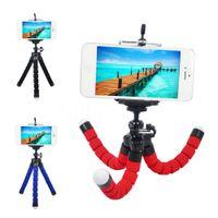oktopus flexibles kamerastativ großhandel-Flexible Stativ Halter für Handy Auto Kamera Gopro Universal Mini Octopus Schwamm Ständer Halterung Selfie Monopod Halterung mit Clip