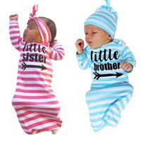 Wholesale Sleep Blankets For Infants - Wholesale- Soft Baby NewBorn Infant Swaddle Wrap Blanket Sister Brother Sleeping Bag For 0-24 Months Baby Clothing