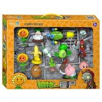 ingrosso bambole giocattolo zombie-Plants vs Zombies Action Figure Giocattoli Shooting Dolls 11-in-1 Set in confezione regalo
