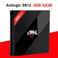 Wholesale android player tv online - H96 PRO Plus Android TV BOX Amlogic S912 Octa core GB GB Bluetooth G G WIFI H K M Smart Media Player