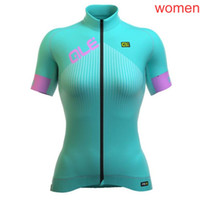 Wholesale Quick Comfort - 2018 ALE team Cycling Short Sleeves jersey Summer New women Tops Wear comfort Anti Bacteria c1302