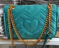 çanta için yeni stiller toptan satış-2018 Yeni Tasarım kadın Kadife Çanta Vogue Moda stil Çanta Şerit Çanta Çanta Omuz Zinciri Çanta 5 Renkler ile Ücretsiz Kargo 26 cm