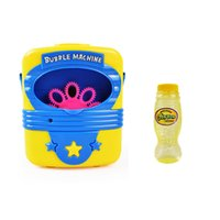 ingrosso bomba pistole giocattoli-JIMITU Automatico elettronico Bubble Machine Blower Maker giocattoli accendono lampeggiante Bubble Gun con musica ragazze estate giocattolo all'aperto