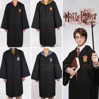Wholesale men costume robe for sale - Group buy Adult Kids Potter Gryffindor Cloak Robe Women Men Hufflepuff Ravenclaw Slytherin Clothing For Harries Halloween Costume Cosplay DDA600