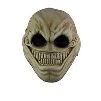 traje de sorriso adulto venda por atacado-Horror Payday 2 Máscara de Resina Estrangeira Rosto Cheio de Halloween Jogo Dos Desenhos Animados Assustador Sorriso Máscaras Masquerade Partido Cospaly Traje Adereços Adulto