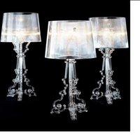 acryl licht tisch großhandel-H70cm-Geist-Schatten Tischlampen Schlafzimmer Wohnzimmer Nacht Acryl Tischlampen Licht Luminaria Dekorative transparenten Acryl-Tabellenschreibtischlampe