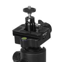câmara de vídeo tripé bola venda por atacado-Preto de 360 Graus de Rotação Mini Ball Head Ballhead 1/4 de polegada Tripé Heads Bola Cabeça Hot Shoe Adapter Para DSLR Camera Camcorder