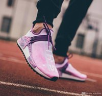 Wholesale Tied Table - 2018 Newest Pharrell Williams HU HOLI NMD MC TIE-DYE Human Race Real Boost Sanskrit Sports Sneakers Men Running Shoes Ac7034