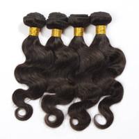 extensiones de la armadura del pelo chino al por mayor-Chino # 2 Dark Brown Color Virgin Hair Extension 100% cabello humano Weave 6a chino Body Wave extensiones de cabello