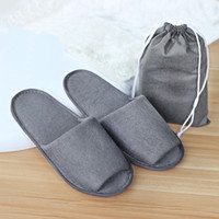 Wholesale Nice Hotel - Environmental nice quality soft not one-time folded slippers with bags disposable shoe home white sandals hotel babouche travel shoes