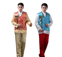 Men Korean Traditional Hanbok Court Ethnic Male Oriental Stage Dance Costume Men Korea Hanbok Clothing Asian Ancient Clothes