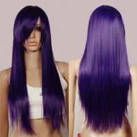 Wholesale Dark Purple Wigs - Dark Purple 0.7m Dynamic Styling Long Straight Cosplay Wigs 76  3737