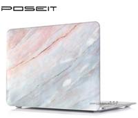 funda negra macbook al por mayor-Patrón de mármol de color Hard Case + negro Cubierta de teclado para la nueva Macbook 12 pulgadas Retina A1534 laptop