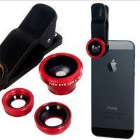 Wholesale iphone degree eye fish resale online - Hot Clip degree Fisheye lens universal Fish eye Wide Angle Macro phone camera selfie lens iphone plus samsung s7 s8 plus Potable
