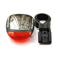 Wholesale solar powered bicycles resale online - Solar Power LED Bicycle Lights Bike Rear Tail Lamp Light Bike Safety Flashing Light Lamp Red New ARE4