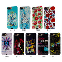 Wholesale uv apple resale online - Hybrid Brushed Armor Case UV oil D For iphone X Back Cover Cell Phone Accessories Combo Case For iphone A