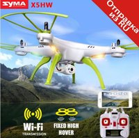 Wholesale Rotor Led - Original Syma X5HW (X5SW Upgrade) FPV RC Drone with WiFi Camera RC Quadcopter with LED Light Headless Model Dron RTF Gift Toy